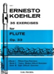 35 Exercises for Flute Op. 33 Book 1 - Fifteen Easy Exercises