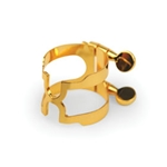 HCL1G D'Addario Bb Clarinet H-Ligature and Cap, Gold