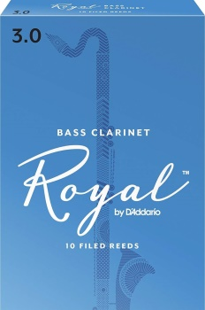 10ROBC4 Rico Royal Bass Clarinet Reeds 4.0 (Box of 10)